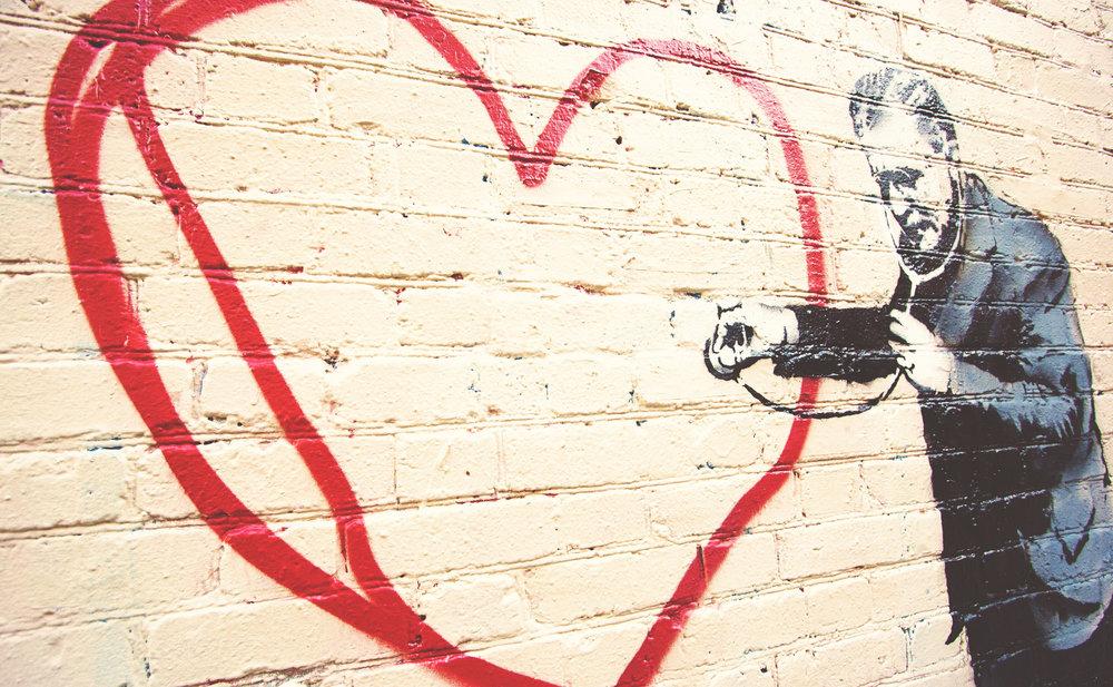 Art: Banksy. Photo by  Kanaka .