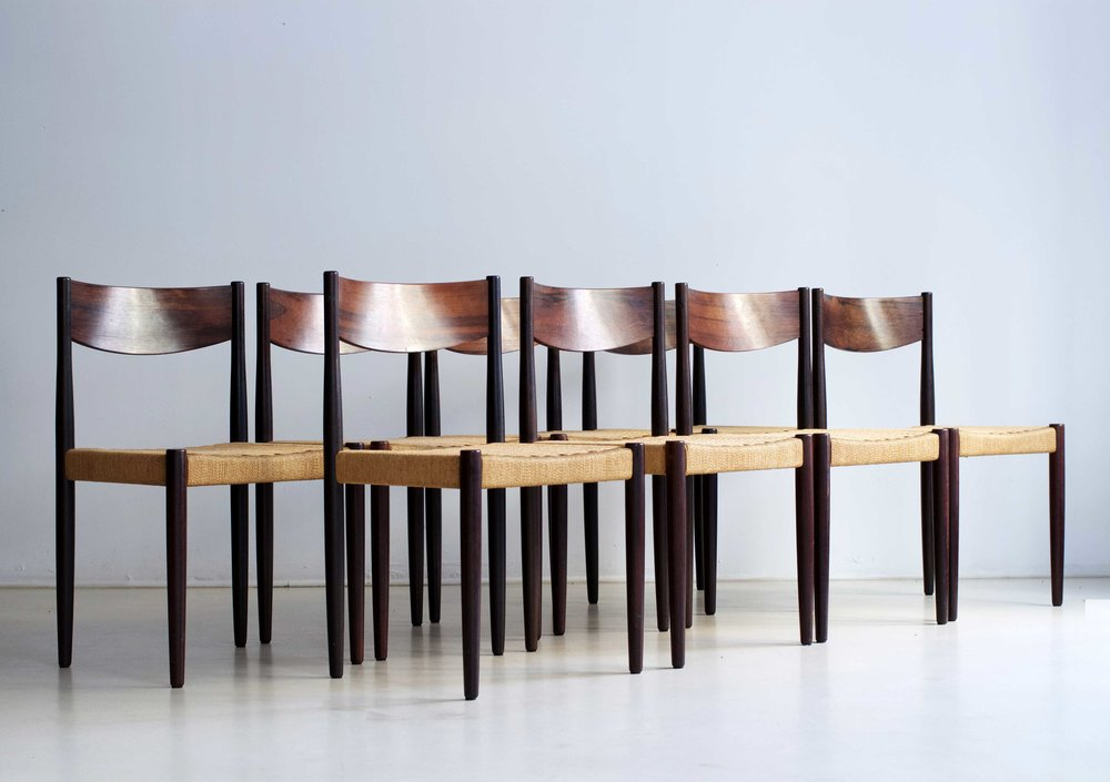 Poul Volther  8 Chaises