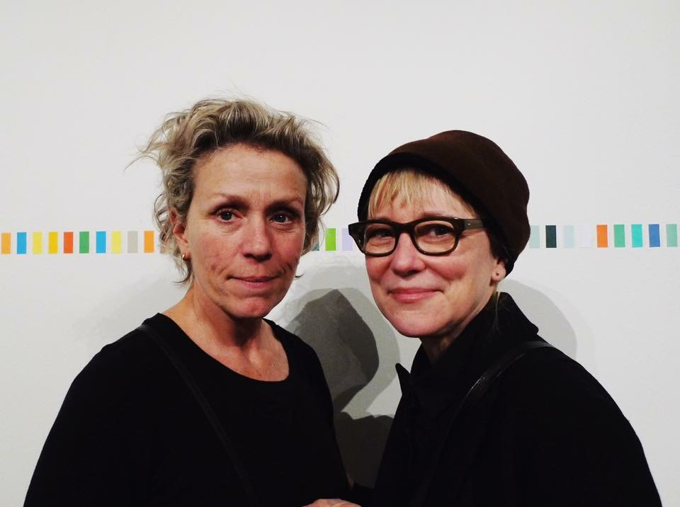 Frances McDormand and Suzanne Bocanegra