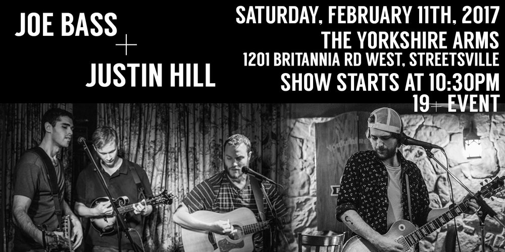 Come out to The Yorkshire Arms this Saturday to see Justin Hill & The Conundrum perform amazing new music from his upcoming album, after a performance by the fantastic trio, Joe Bass!    Joe Bass: 10:30pm-12:00am Justin Hill & The Conundrum: 12:00am-1:30am    FREE ADMISSION!!    19+ Event