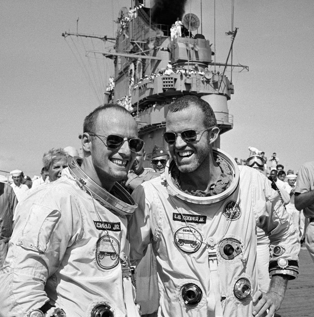 1965 NASA Astronauts Lt. Gordon Cooper Jr. and Charles Conrad Jr.