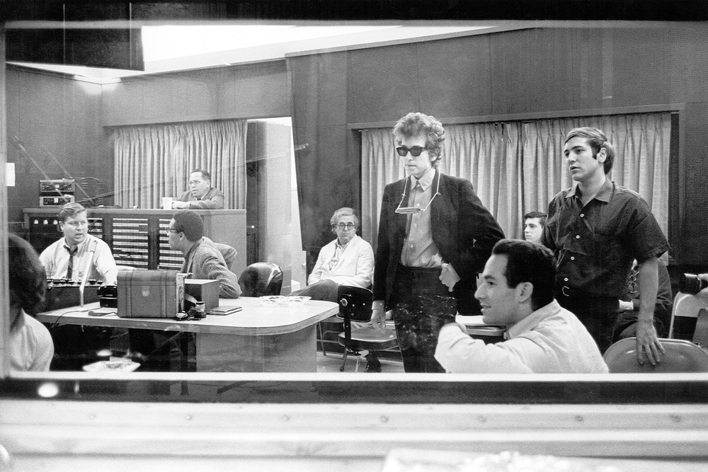 1965 Bob Dylan in Columbia's Studio A