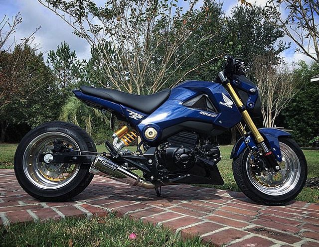 properly done Honda Grom by @sugaseanproductions !! GROM WHEELS by FLPPARTS.com now in stock !