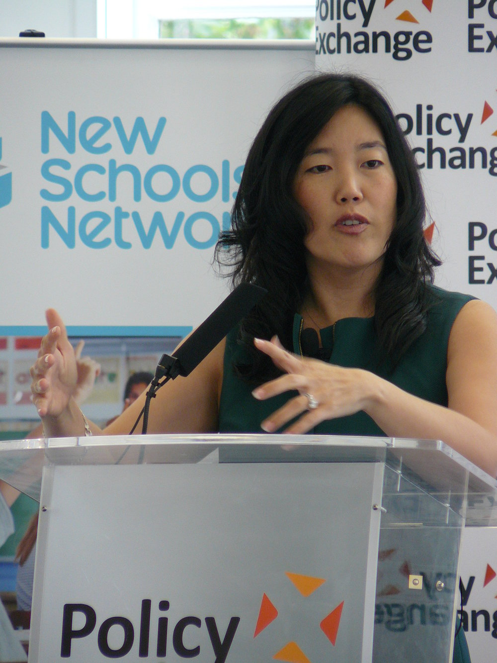 Flickr: StudentsFirst founder Michelle Rhee delivering her speech at Policy Exchange