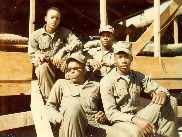 James A. Stockton with other enlisted Marines at Camp Pendleton, California