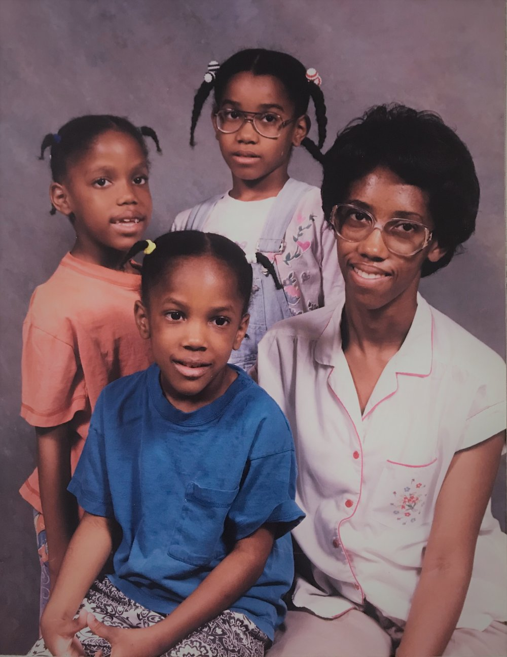 Lisa Stockton with her daughters Shawnta, Alice and Sherry