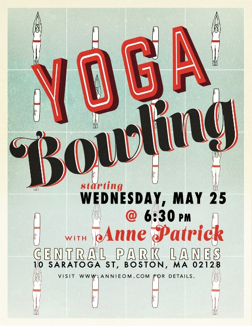 Yoga Bowling Event Poster