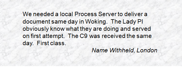 Process Server Inter Agency
