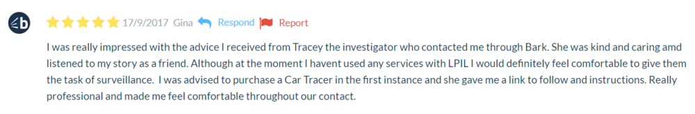 5 Star Review Bark Private Investigators Surrey