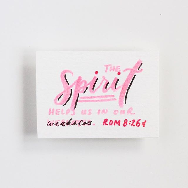 "🖤 ""Likewise the Spirit helps us in our weakness. For we do not know what to pray for as we ought, but the Spirit himself intercedes for us with groanings too deep for words."" - Romans 8:26"
