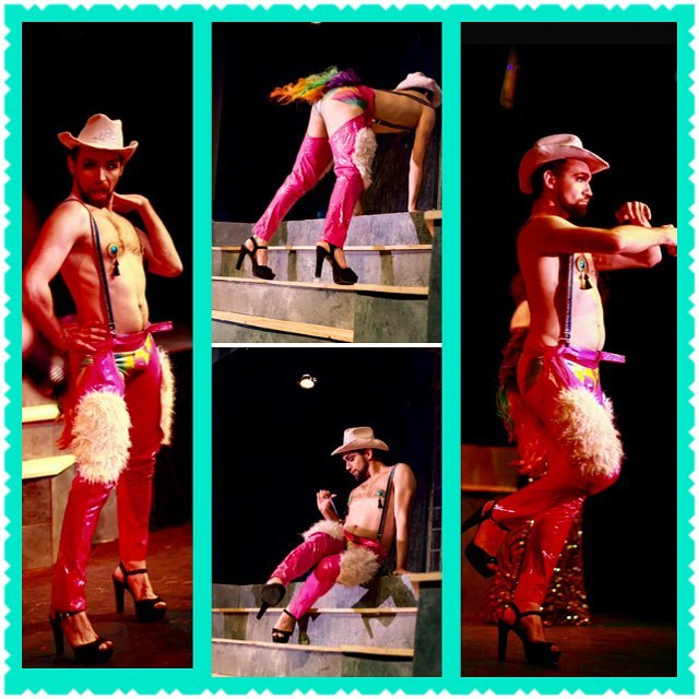 #mcm #betterlatethannever 🦄🦄 It was such a treat to have @myloprecious as a #guest #pantywrangler at the #grittycitysirens #creepshow #peepshow 💜💙💚💛❤️💖We can't wait to have him #backonstage with us  #giddyup #cowboy #pinkchaps #shakethattail #boylesque #tacomaburlesque