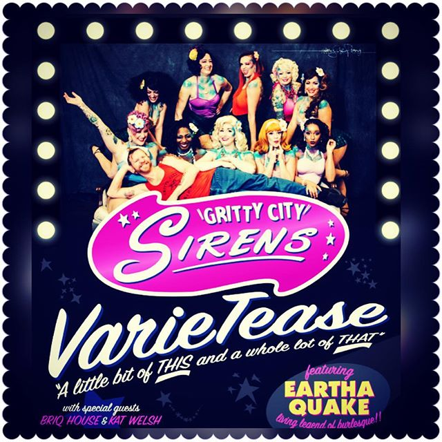 TICKETS FOR #varietease ARE LIVE ❣️ticket link in bio ❣️ #grittycitysirens are back at #tacomalittletheatre with #specialguests @ms.briqhouse & @katbellydance @tacomadancestudios  #featuring #burlesquelegend #EarthaQuake ❣️❣️#getyourtickets #tacomaburlesque #seabq #variety #artofthetease #tacomawa #nightlife #sponsoredby @marymarttacoma