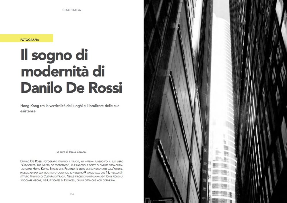 Ciao Praga Magazine Volume 4 -  Article by Paola Caronni -  read in full (in Italian)