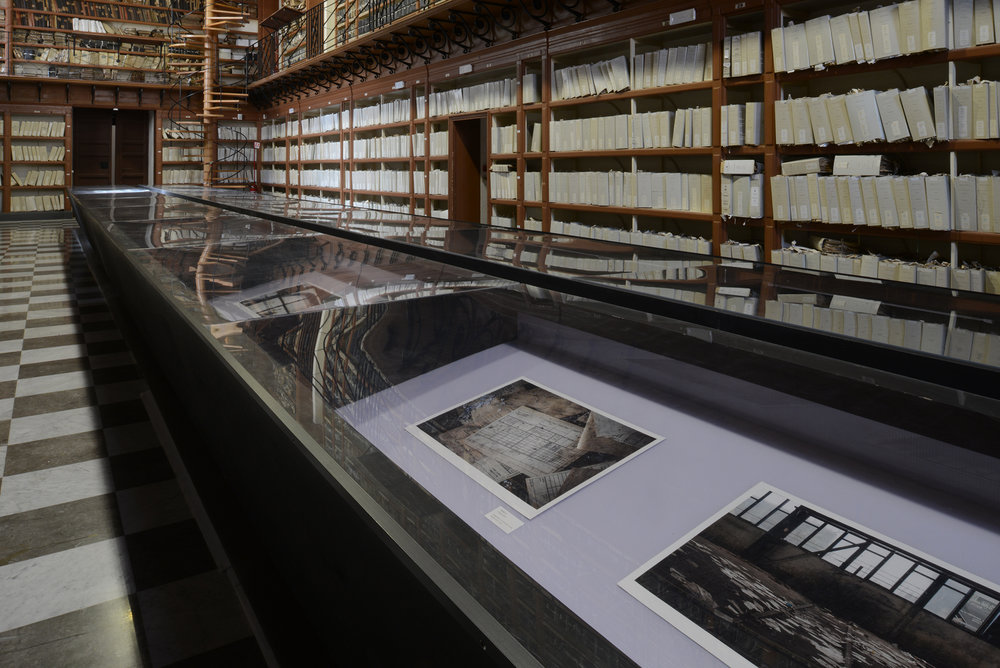 View of Iron Dust - Reflections at Historical Archive of Palermo in 2018.