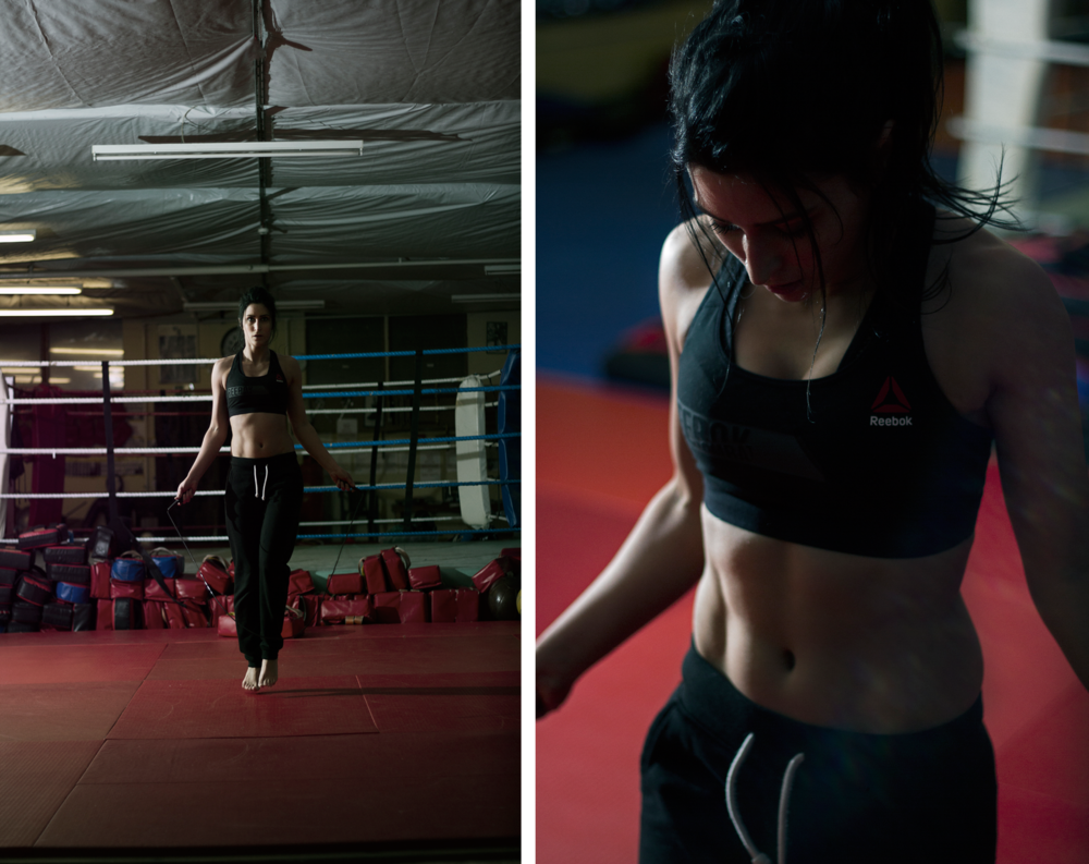 Skipping Kickboxing Training