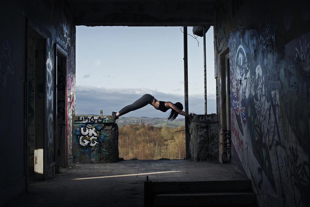 Yoga Downward Dog Plank