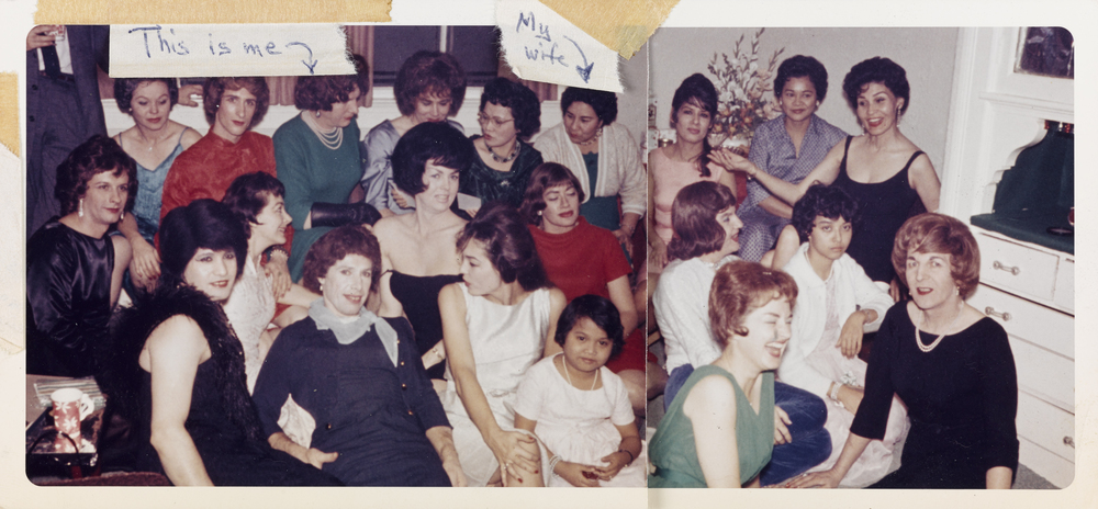 Unknown American,  Large Group in Living Room , Chromogenic Print 8.8 x 19 cm, 1963. Collection of the Art Gallery of Ontario. Purchase, 2015. 2014/915. © Art Gallery of Ontario.