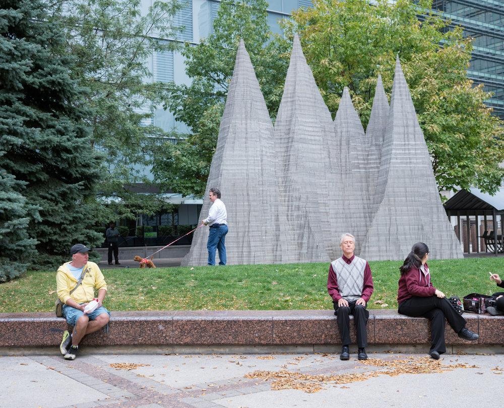 Mountain  by Anish Kapoor, Simcoe Park, Toronto, 1995. Photo By: Matthew Monteith, 2015.