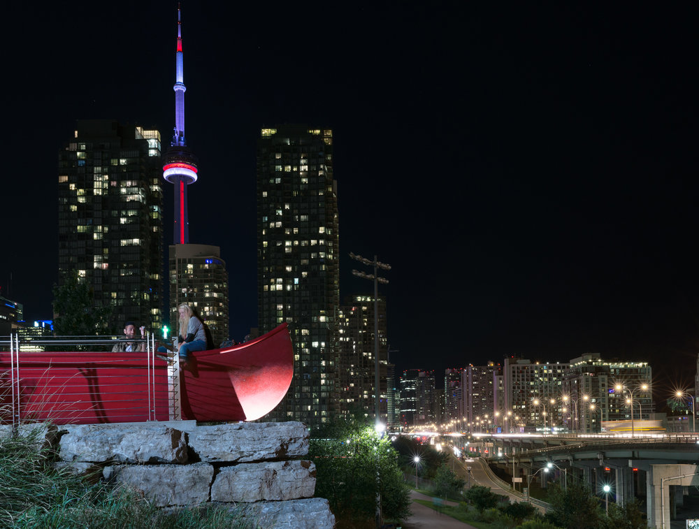 Canoe Landing  by Douglas Coupland, CityPlace, Toronto, 2009. Photo by Matthew Monteith, 2015.