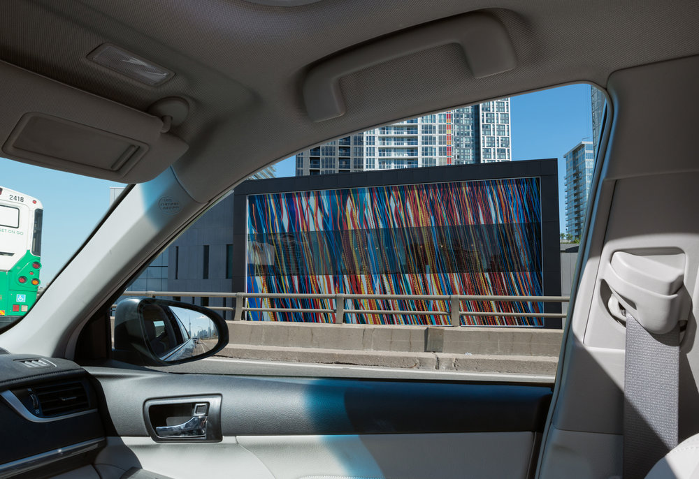 Gardiner Streams  by Katherine Harvey, CityPlace, Toronto, 2013. Photo By: Matthew Monteith, 2015.
