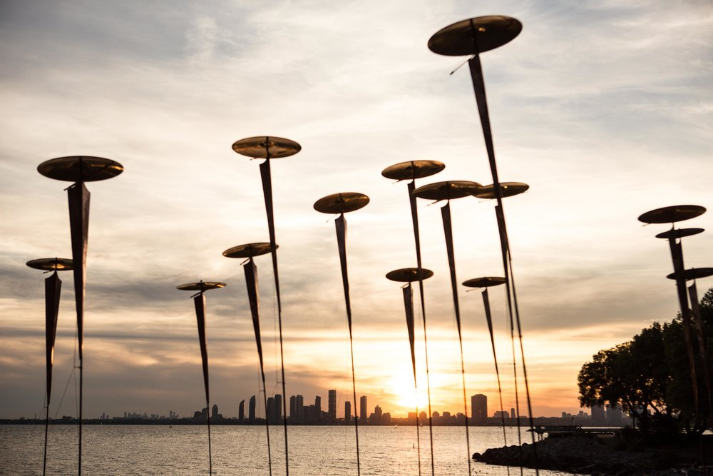 Wind Flowers  by John Dickson, presented at  in/future . Ontario Place, 2016. Photo by Andrew Williamson.