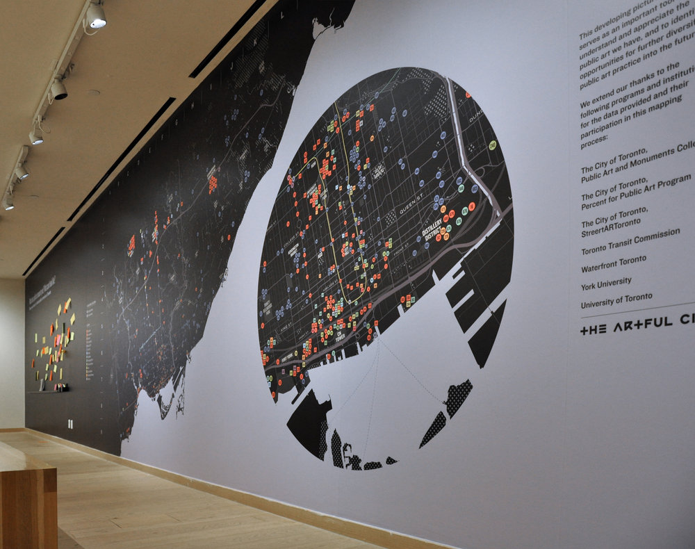 Public Art Map, Installation View.