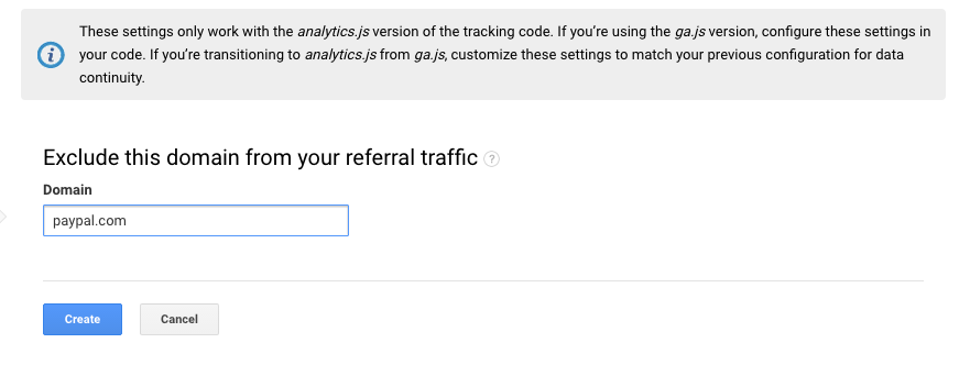 How to add Paypal to referral exclusions in Google Analytics