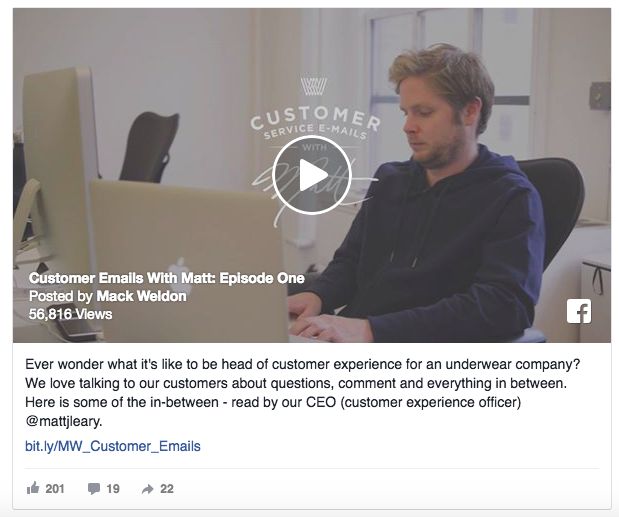 Use your Facebook video ad to answer customer questions