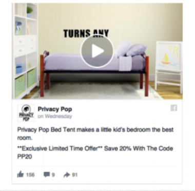 Facebook ads video for e-commerce showing how product works