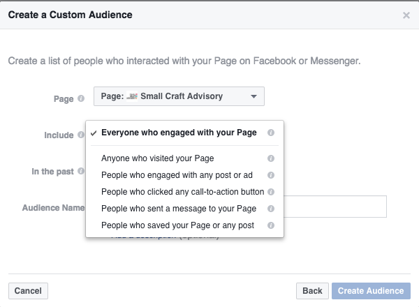 A peek at how the new Facebook page engagement custom audiences will allow you to target
