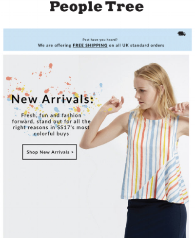 E-commerce blog tips: new product announcements in an email