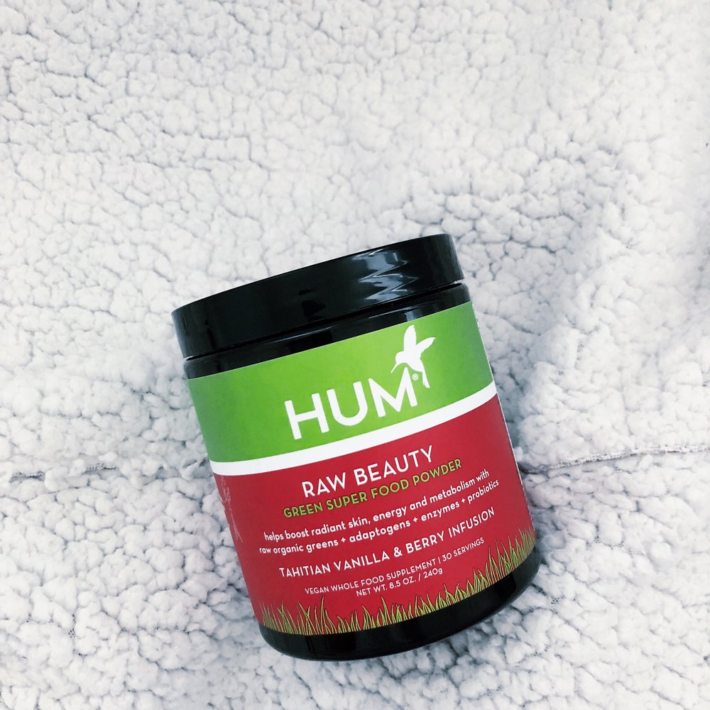 hum nutrition raw beauty green super food powder