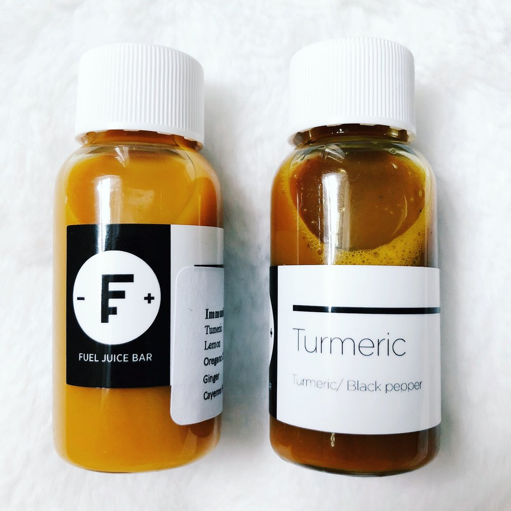 Immunity and turmeric shot from Fuel Juice Bar