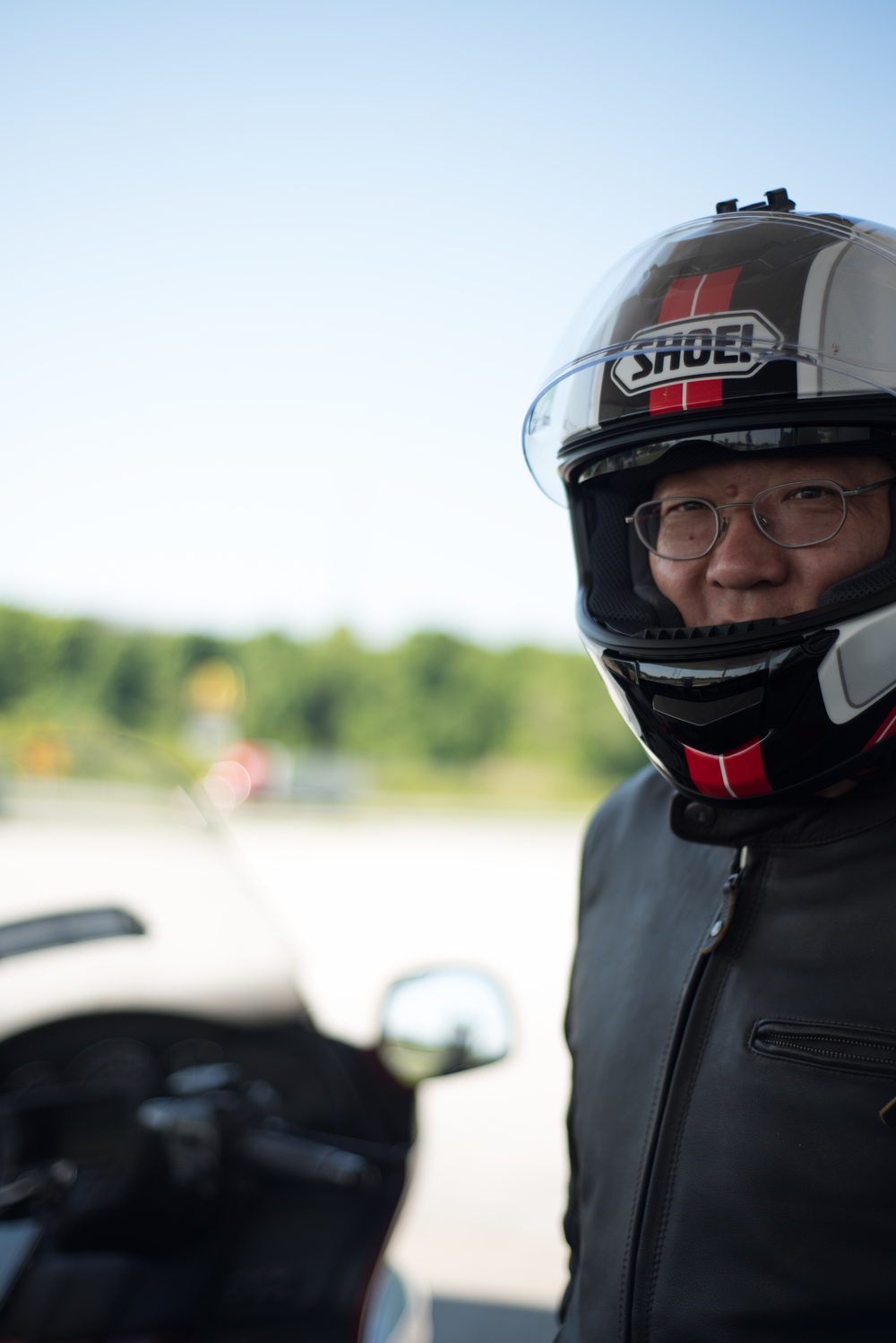 Riding from New York to LA, this gentleman from Beijing, China was on an adventure and a mission.