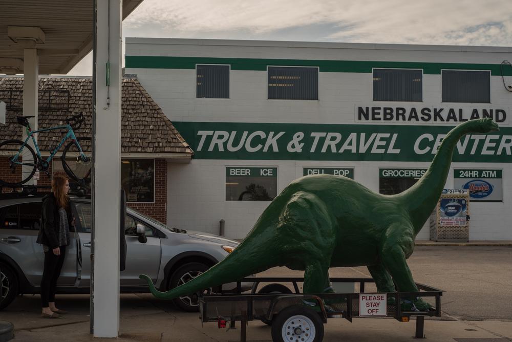 Stopping for gas in Lexington, Nebraska.