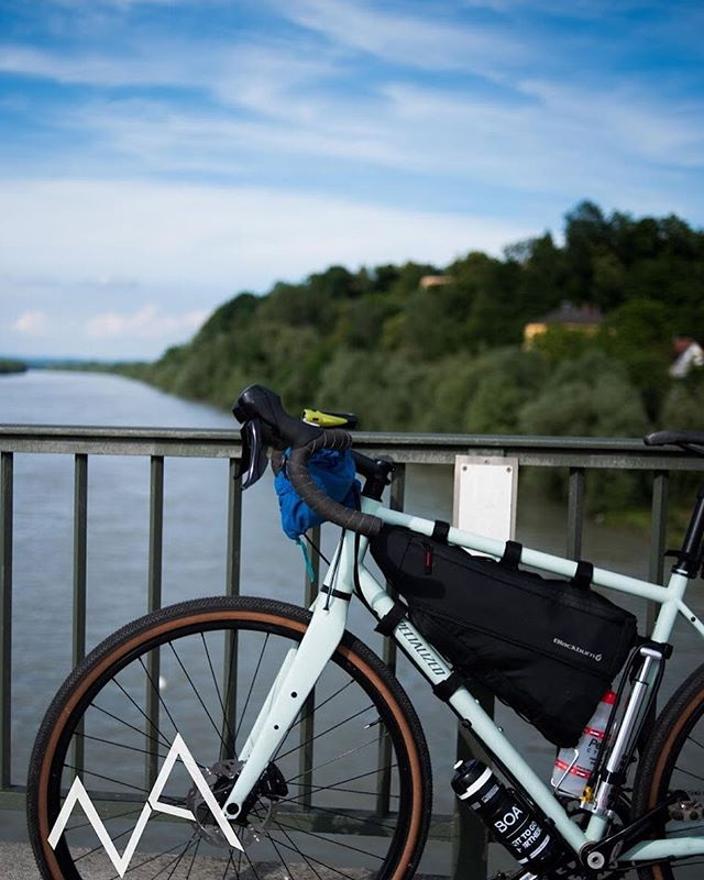 Between Austria and Germany  #bikes #blue #river #outside