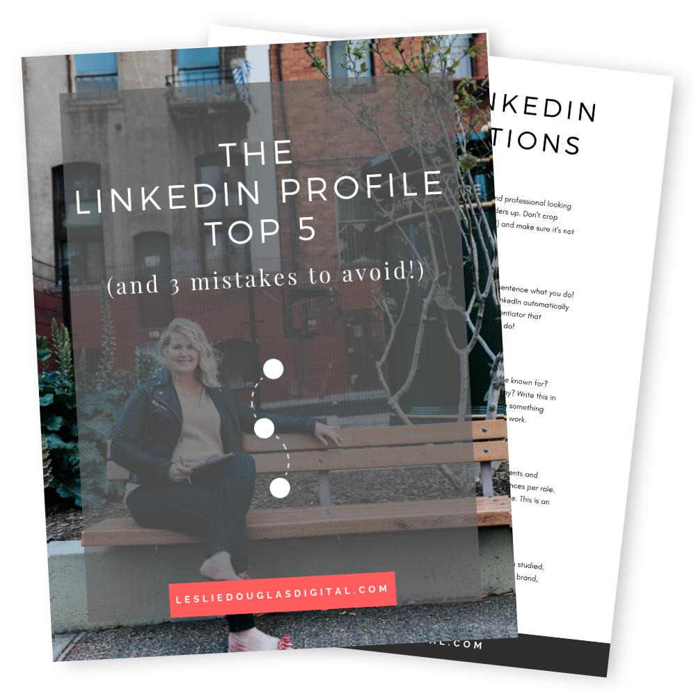 The LinkedIn Profile Top 5