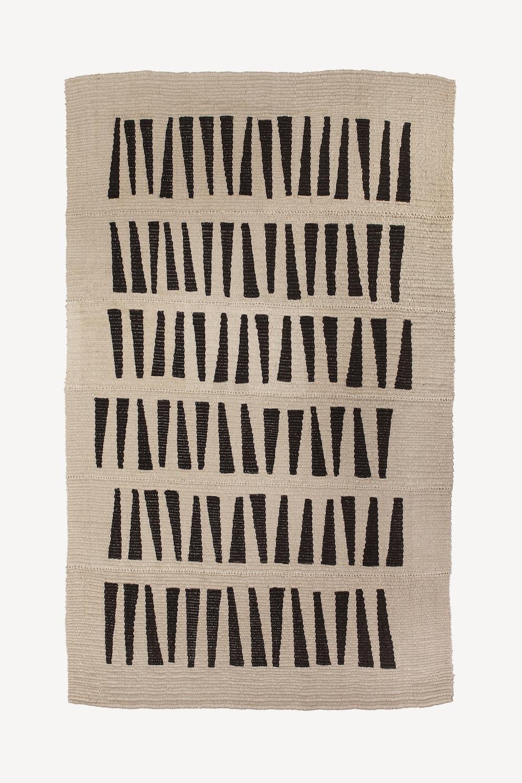 "108"" x 72"" / 100% hemp rug / 2017"