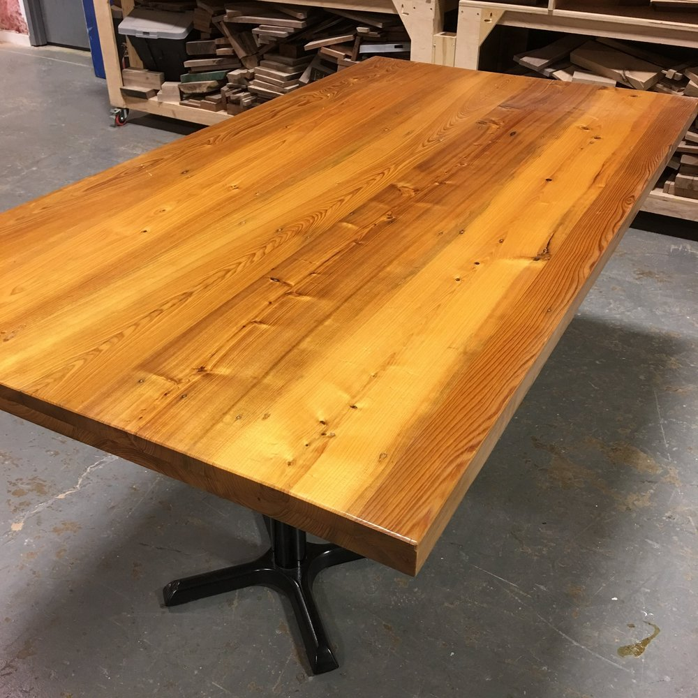 Superbe Reclaimed Sinker Cypress Table Top
