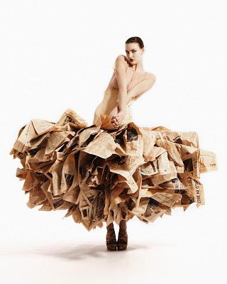 Gary Harvey Newspaper Dress