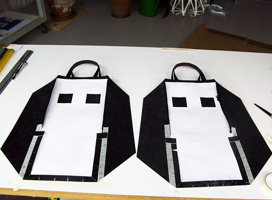 In the making, these bags require no sewing as they can be heat bonded.
