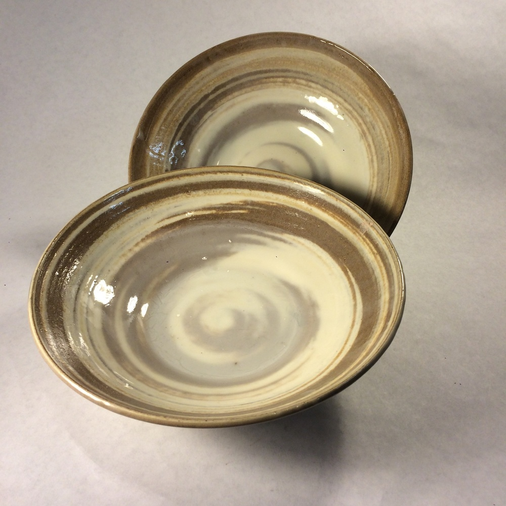 """Chocolate & Vanilla Swirl"" Bowls/Plates, 2015"