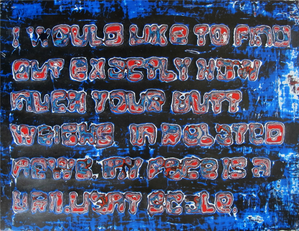 "25, Atlanta (Scale)  Reduced Acrylic on Panel, Glitter  12"" x 16""  $500"
