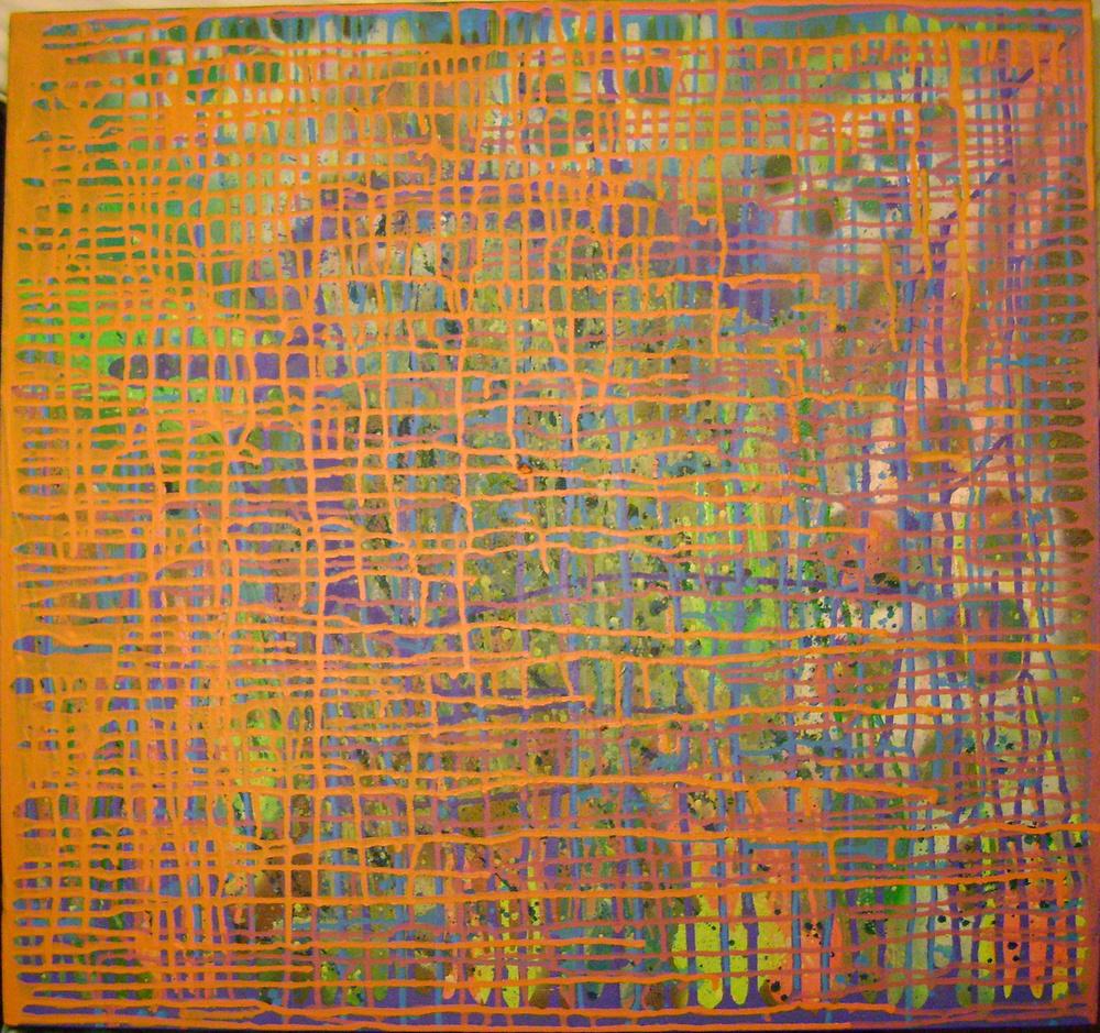 Charmer/Acrylic, Oil, and Spray Paint on Canvas/2009