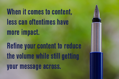 Focus your content