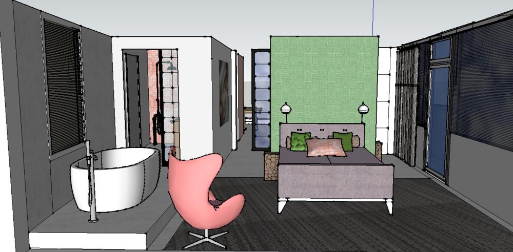 3D tekening Appartement 2016