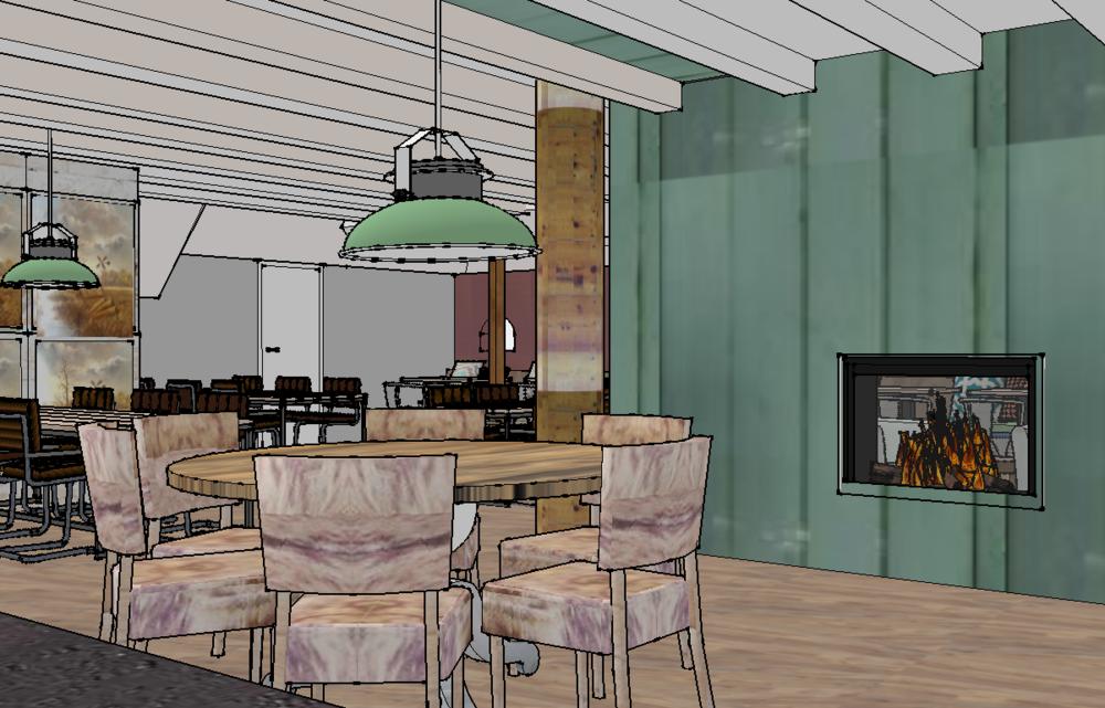 Het Doevehuis in Kalenberg 3D tekening 2017