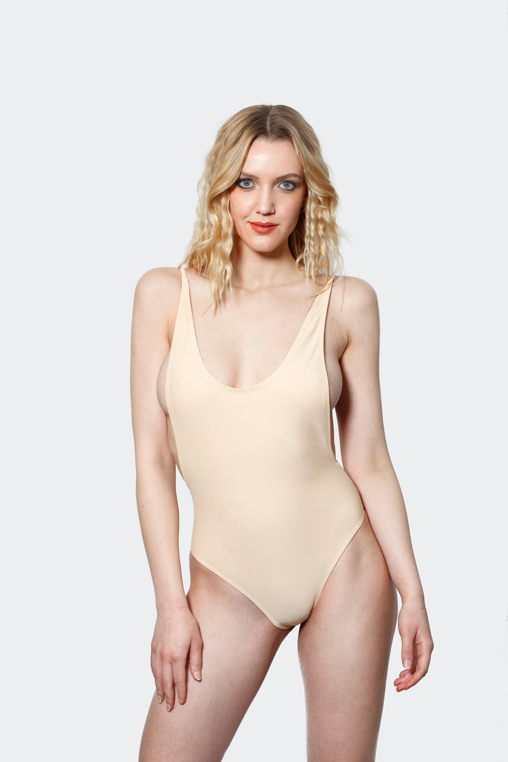 one piece open back swimsuit