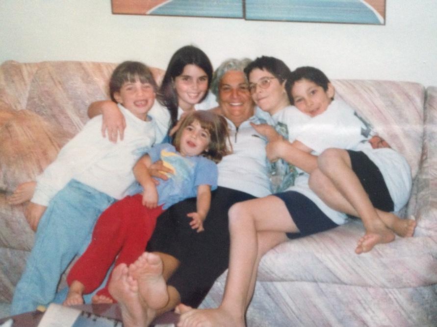 Ester and her five grandchildren.