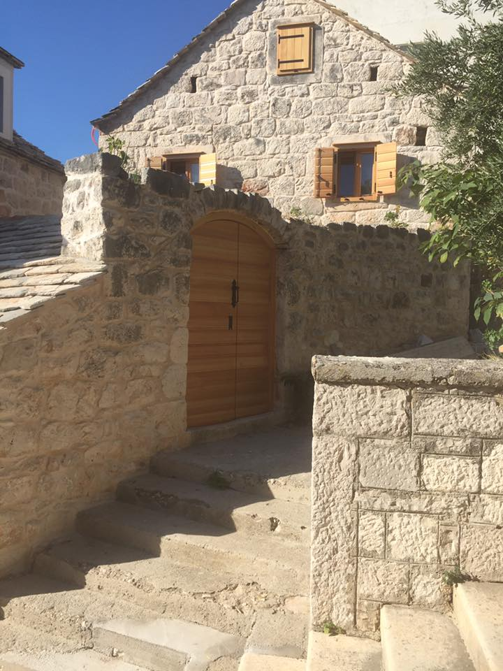 An old village storied house. A fine example of the typically charming and rustic old Dalmatian stone homes.